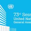 Posiciones destacadas de países participantes durante el 73º Período Ordinario de Sesiones de la Asamblea General de la Organización de las Naciones Unidas (AGONU)
