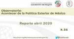 Observatorio. No. 56. Reporte Abril 2020