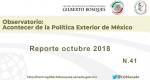 Observatorio. No. 41. Reporte Octubre 2018