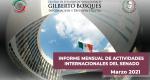 Informe Mensual de la Actividad Internacional del Senado - Marzo 2021