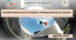 Informe Mensual de la Actividad Internacional del Senado - Agosto 2019