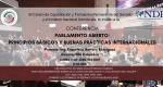 """Conferencia """"Parlamento Abierto: principios básicos y buenas prácticas internacionales"""" impartida por el Ing. Francisco Herrera Rodríguez, Director del NDI - Colombia"""