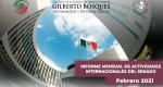 Informe Mensual de la Actividad Internacional del Senado-Febrero 2021