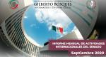 Informe Mensual de la Actividad Internacional del Senado-Septiembre 2020