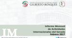 Informe Mensual de la Actividad Internacional del Senado - Febrero 2017