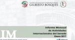Informe Mensual de la Actividad Internacional del Senado - Enero 2017