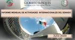 Informe Mensual de la Actividad Internacional del Senado-Julio 2020